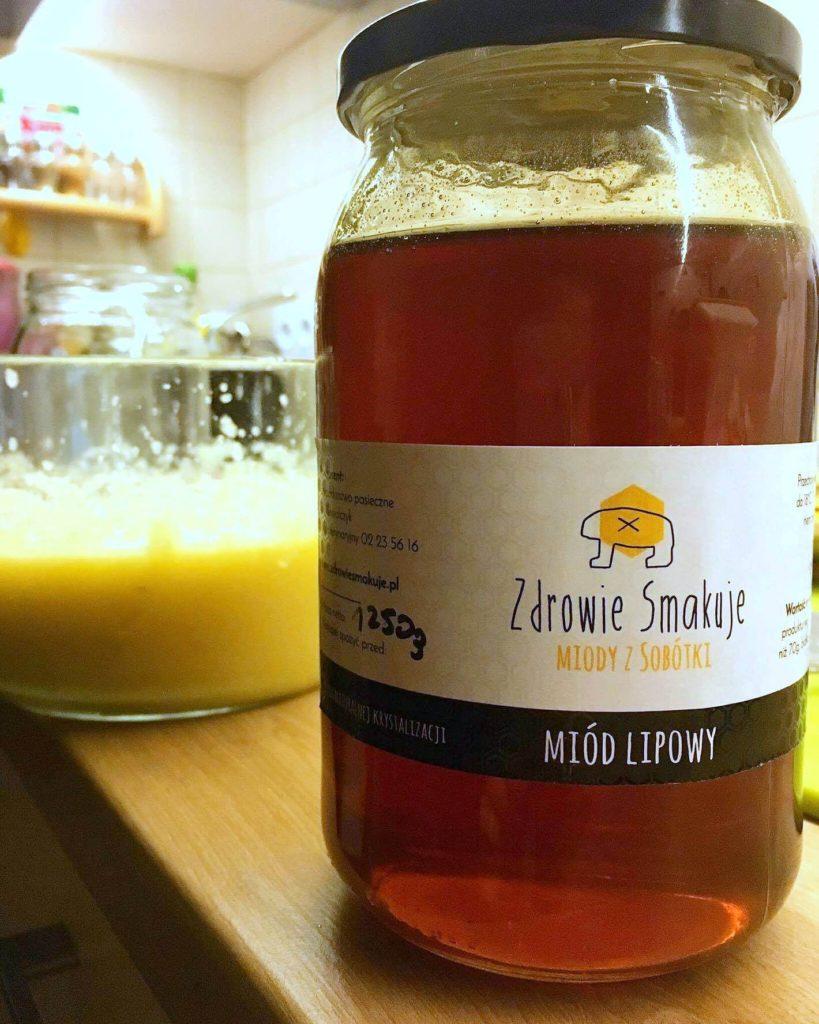 miód lipowy przeziębienie gardło